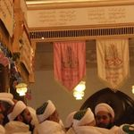 Huzurala TUS arrived for Milad majlis  at Masjid-e-Azam