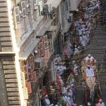 Qasre Aali farzando taking part in the procession on the elephant.