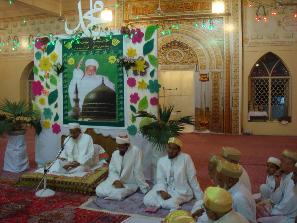 Photos milad un nabi saw celebrations in indore saifee for Decoration 3id milad