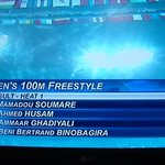 Men's 100m freestyle results, Heat 1